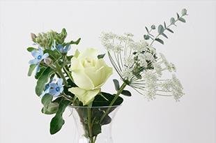 花瓶に生けられた花