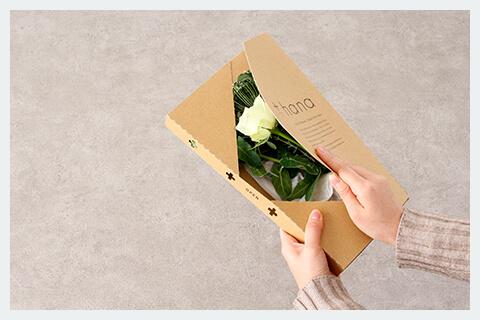 お花の定期便を開く写真
